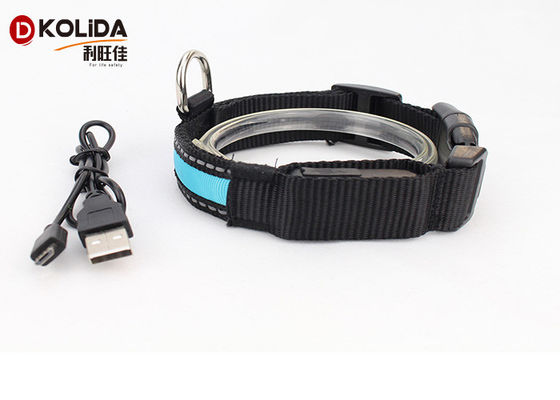 Collier de chien rechargeable d'USB LED